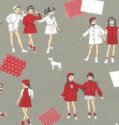vintage children fabric