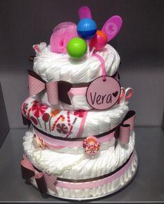 Diaper cake / tarta de pañales