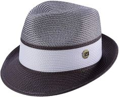 Men's Braided Two Tone Pinch Fedora Hat in Plum Dope Hats, Steampunk Top Hat, Spring Hats, Cat Shoes, Slim Fit Suits, Mens Braids, Straw Fedora, Kentucky Derby Hats, Hats For Men