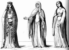 High Middle Ages - 12th century French Kirtle Gowns