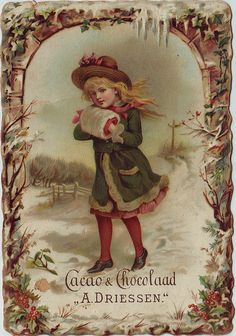 caao driessen girl in winter scene with hands in muff | Flickr - Photo Sharing!