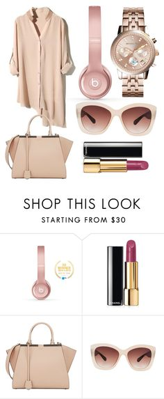 """""""Rose gold"""" by emiliebee ❤ liked on Polyvore featuring Beats by Dr. Dre, Chanel, Fendi, Eloquii, Michael Kors, women's clothing, women, female, woman and misses"""