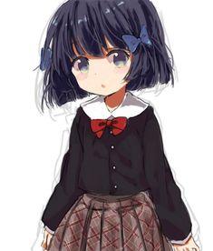 anime, anime girl, and red image Kawaii Anime Girl, Loli Kawaii, Anime Girl Cute, Kawaii Chibi, Cute Chibi, Anime Art Girl, Lolis Anime, Anime Demon, Chibi Characters