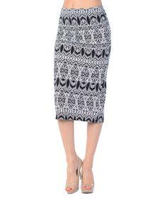 Loving this Bellino Black Arabesque Pencil Skirt on #zulily! #zulilyfinds