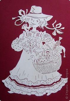 Картина панно рисунок Вырезание Летняя ярмарка Бумага фото 1