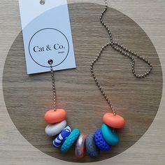 """""""TROPICANA  This weeks HOT SELLER.  Love the fun combo of colours, just in time for summer!  #catandco #handmade #madeinmelbourne #melbourne #tropicana #polymerclay #polymerclayjewelry #polymerclayjewellery #smallbusiness #supportsmallbusiness  #supportsmall #supportlocal"""" Photo taken by @cat.and.co on Instagram, pinned via the InstaPin iOS App! http://www.instapinapp.com (11/08/2015)"""