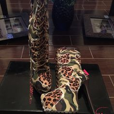 """Alba Boots Camo Brand new fresh out the box Jessica Alba Boots in Camo. If style is what your looking for them grab these boots asap! """"Alba"""" Shoes Heeled Boots"""