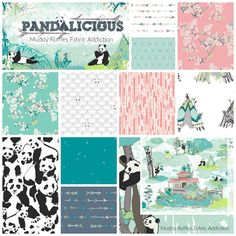 * Pandalicious by Katarina Roccella for Art Gallery Fabrics - PRE ORDER