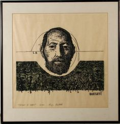 Roger Bartlett | Portrait of Baskin | Woodcut Print