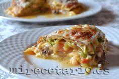 Lasaña de tortillas {Cooking the Chef} | mirecetario.es