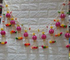 Diwali Decoration Items, Thali Decoration Ideas, Handmade Decorations, Colorful Rangoli Designs, New Mehndi Designs, Diwali Candles, Bridal Hairstyle Indian Wedding, Door Hanging Decorations, Hairpin Lace Crochet