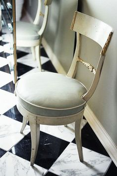 Eighteenth-century Italian chairs in Designer Jan Showers's Sophisticated Dallas Home - Traditional Home