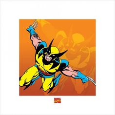 AFFICHE Wolverine Poster Reproduction - Marvel BD (40 x…