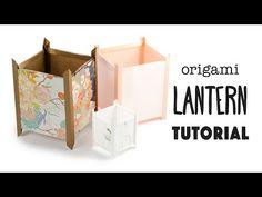 Origami Paper Lantern Tutorial – Japanese Andon Lamp 行灯 – Paper Kawaii – Origami World Origami Lantern, Lantern Craft, Origami Lamp, Origami Paper, Diy Origami, Oragami, Origami Templates, Origami Boxes, Dollar Origami