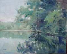 Reflections. Oil painting by Peter Barnett.