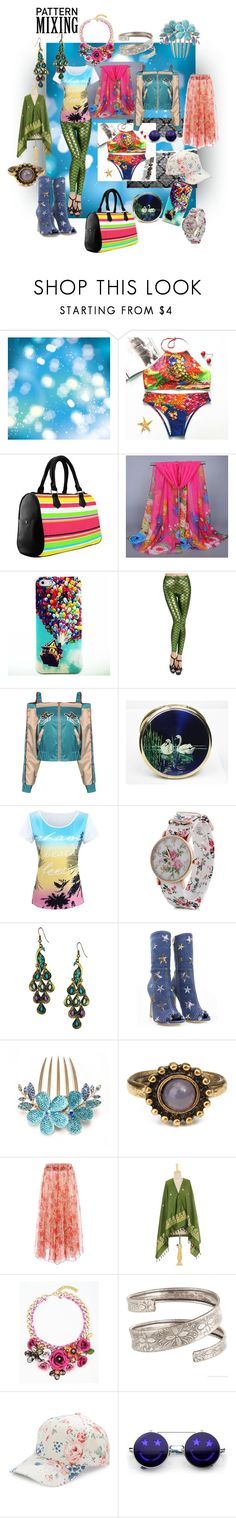 """""""pattern color riot"""" by caroline-buster-brown ❤ liked on Polyvore featuring Diva Style Squad, NOVICA, BCBGeneration, ZeroUV, Nudestix and patternmixing"""