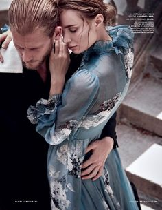 The model poses in romantic looks for the fashion editorial