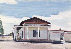 Ranch House, Santa Fe - watercolor 1925