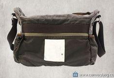 Genuine-Leather-Canvas-Shoulder-Bag-Vintage-Messenger-Bag-2 Vintage Messenger Bag, Rucksack Bag, Vintage Canvas, Canvas Shoulder Bag, Leather Bag, Satchel, Backpacks, Bags, Gray