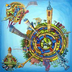 tel aviv haifa jerusalem cities map famous sites on the city