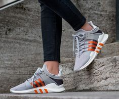 Adidas Equipment Support ADV Clear Granite Orange Shoes Orange Shoes, Adidas Gazelle, Granite, Adidas Sneakers, Fashion, Moda, Fashion Styles, Granite Counters, Fashion Illustrations