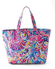 Lilly Pulitzer Psychedelic Sunshine Palm Beach Tote