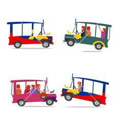 Philippine jeep cartoon vector 1955969 - by Eli_Creative on VectorStock® Hetalia Philippines, Jeepney, Parol, Stock Illustrations, Call Backs, Christmas Star, Manila, Filipino, Photo Booth