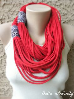 Bella Infinity Oversized Scarf Red Bright by BellaInfinityScarves, $30.00  www.facebook.com/infinity0512