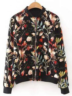 GET $50 NOW | Join RoseGal: Get YOUR $50 NOW!http://www.rosegal.com/jackets/floral-pattern-zipper-design-jacket-675405.html?seid=4021664rg675405
