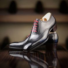 Saint Crispin's Oxford Wingtip Brogues. Completely handmade from alterable preformed lasts. Around $1,250.00. From Romania...ridiculously great value.