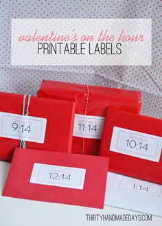 On the hour Valentines (with printable package labels)