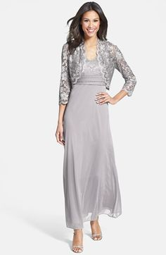 Patra Lace Overlay Gown & Bolero (Regular & Petite) available at #Nordstrom