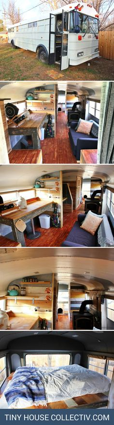 The Mountain Bus: a remodeled bus, transformed into a home! It's currently available for sale for just $25,000!