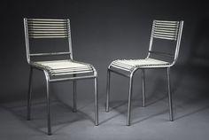 """Rene Herbst Paris 1891 - Paris 1982  """"Chaise Sandows"""""""