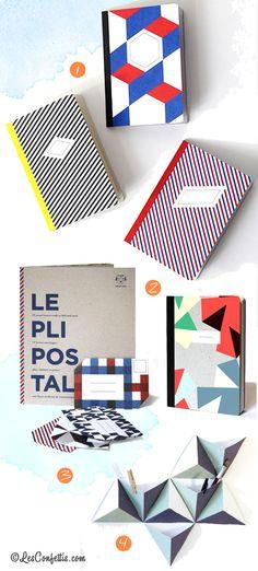 http://www.papiertigre.fr 1 Carnets Les 3 Essentiels – 16 € 2 Carnet le Zéphyr – 14 € 3 Le Pli Postal pour retrouver le plaisir des échanges écrits à la main – 23 € 4 Les Tri-angles , 8 boîtes à accrocher au mur – 35 €