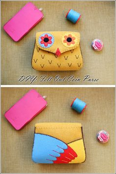 DIY Felt Owl Coin Purse
