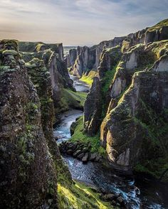 The Fjadrárgljúfur Canyon. An amazing place that is tough to pronounce.  | PC: @deliaphotography