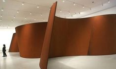 Richard Serra sculpture at the Museum of Modern Art in New York.