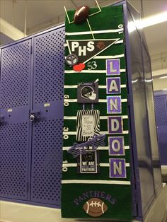 17 Best images about Locker Room Football Locker Decorations, Cheer Locker Decorations, Homecoming Decorations, Football Crafts, Football Banquet, Football Cheer, High School Football, Football And Basketball, Football Season