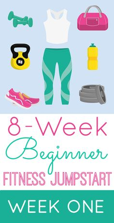 8-Week Beginner Fitness Jumpstart: Week One - FREE workout guide and meal plan + AWESOME GIVEAWAY PRIZES!!! #FitnessJumpstart