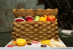 Nigerian traditional engagement wedding cake fruit basket - that would be crazy expensive to make, but so cute!