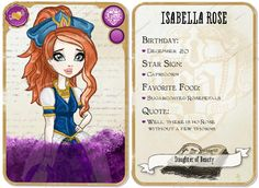 My name is Isabella Rose and I am the daughter of Beauty. I am a rebel. My BFFA are Nymphea Nixie and Page Chapter.