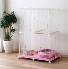 Iris Wire Tower Small Animal Cage Cat Cage Pink | eBay