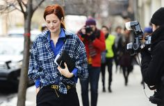 Well if it isn't the elusive TTH at NYFW. Where have you been girl? Is lumberjack chic upon us? #TommyTon