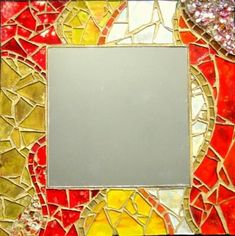Mirror Mosaic, Mosaic Art, Mosaic Glass, Stained Glass, Mosaic Projects, Yard Art, Decoupage, Flora, Art Gallery