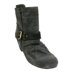 Womens Barefoot Tess Philly Wedge Heels Black Canvas - ONLY $81.95.