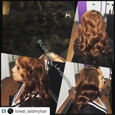 """#Repost @loreal_laidmyhair with @repostapp.  #TBT Hair by @loreal_laidmyhair  818-527-5320  Service: Full Sew-in w/Silk Base Closure & Extensions Custom Colored  Extensions: @Toyawrighthair Eurasian Ocean Wave 2 18"""" bundles & Body Wave Silk Base Closure#hairstylist #hair  #LA  #fashion #family #friends #beauty #LAhairstylist  #fbf #loreallaidmyhair  #fall #auburn #brown #extensions #toyawrighthair #laceclosure #sewin #colorist  #fiercesociety #longhair #healthyhair #stylist #booked…"""