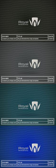 Royal Endodontics Logo Template for sale