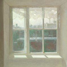 bedroomwindow, morning - 2010 - oil on panel - 80 x 80 cm