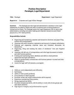 Example Of Paralegal Cover Letter For Job Application Cover ...